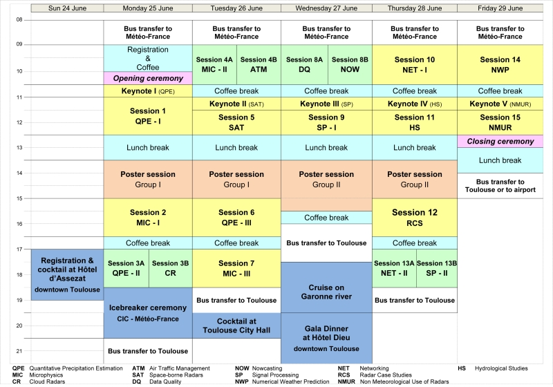 Download The Conference Programme With The Connections To The Short And The  Extended Abstracts.  Conference Planner Template