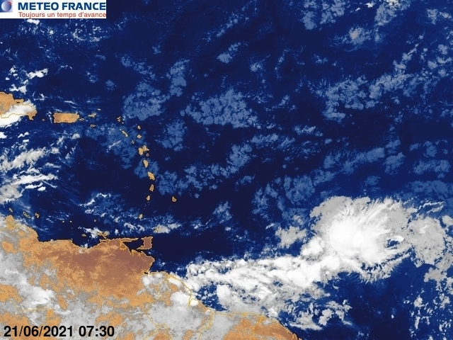 Image satellite Antilles