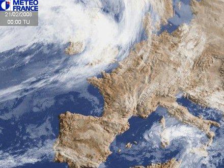 Image satellite Météo-France à 00 heures